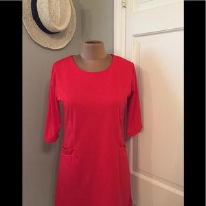 Simple Red Shift Dress